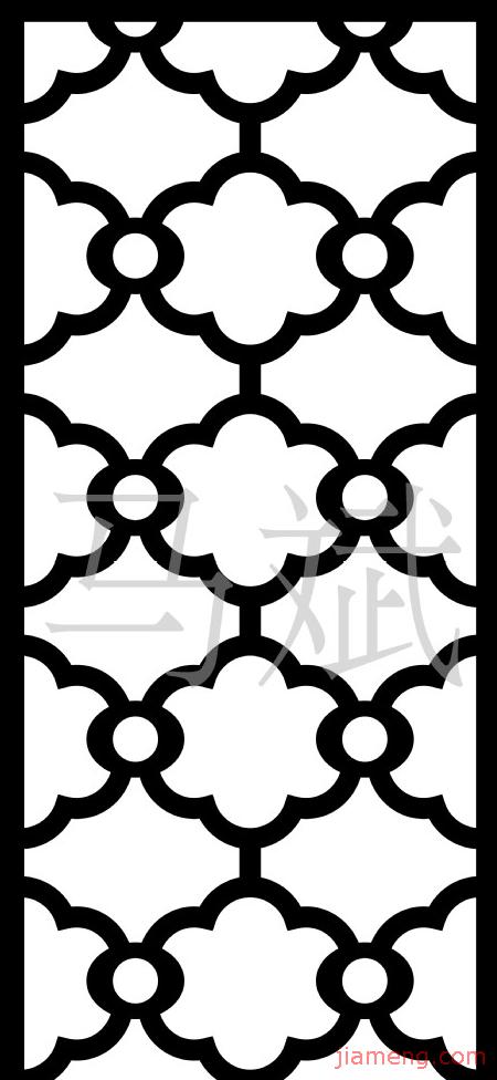 木门雕花黑白线条矢量图