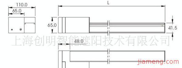 通过电机机械传动方式来实现窗帘的调光及收合称为电动垂帘.